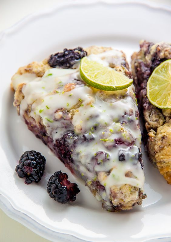 Fresh Blackberry Lime Scones made from scratch! Fresh blackberries and ...