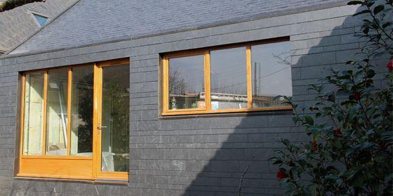 Maison r nov e avec cupaclad fa ade ventil e en ardoise for Livres architecture batiment construction
