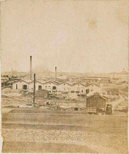 Hacia 1860.Madrid por la estación de Atocha. Laurent. Museo de Historia. | Flickr - Photo Sharing!