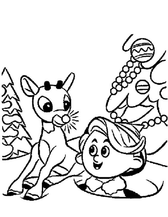 santa and elves coloring pages - photo#16