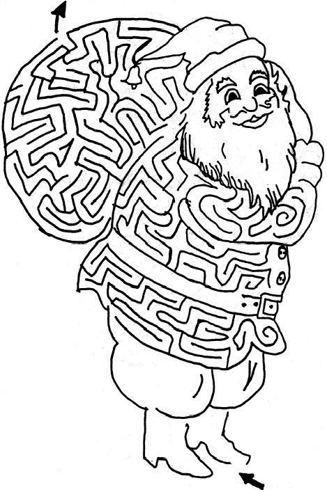santa clause maze
