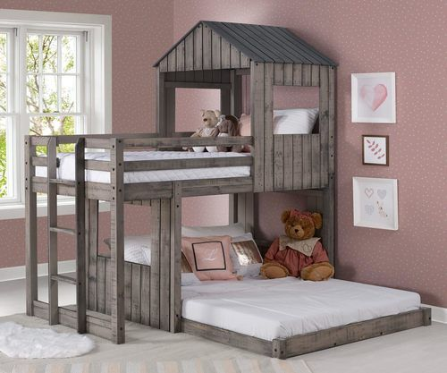 Campsite Twin Over Full Loft Bunk Bed With Images Loft Bunk