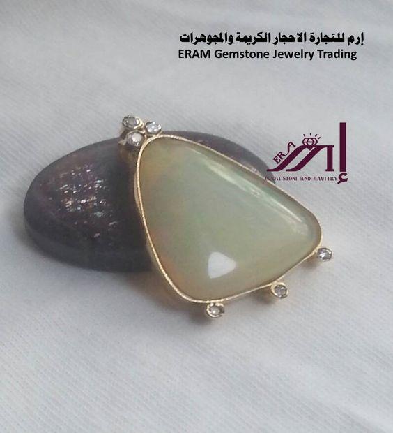 قلادة ذهب اوبال والماس طبيعي 100 Opal Diamond Mirrored Sunglasses Gemstone Jewelry Gemstones