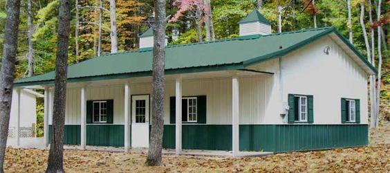 Barn living pole quarter with metal buildings pole for Amish built pole barn houses