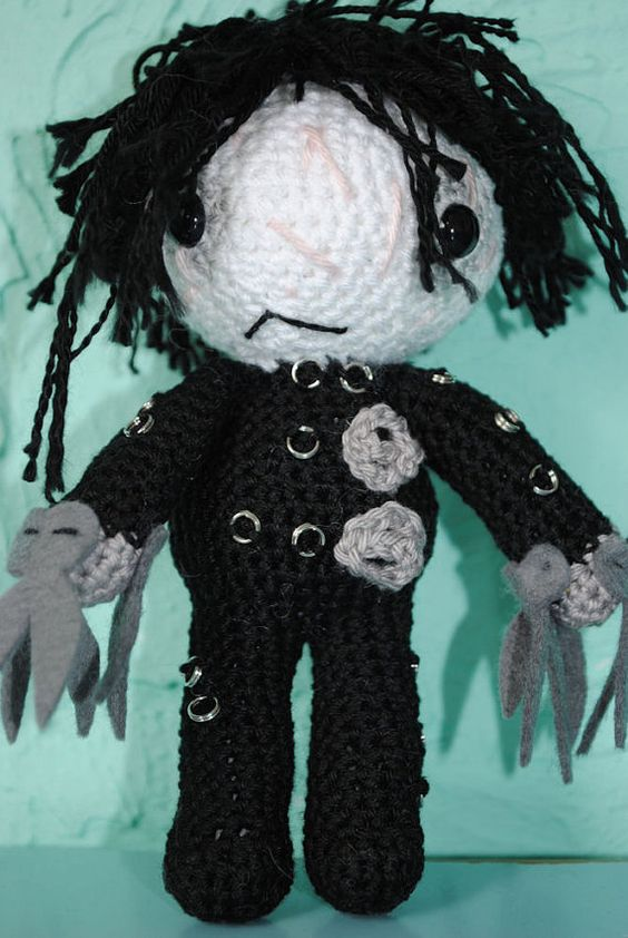 CH crochet amigurumi pattern edward scissorhands by FunandFang, $4.50.  Can someone make this for me???  I am too new to crocheting to try