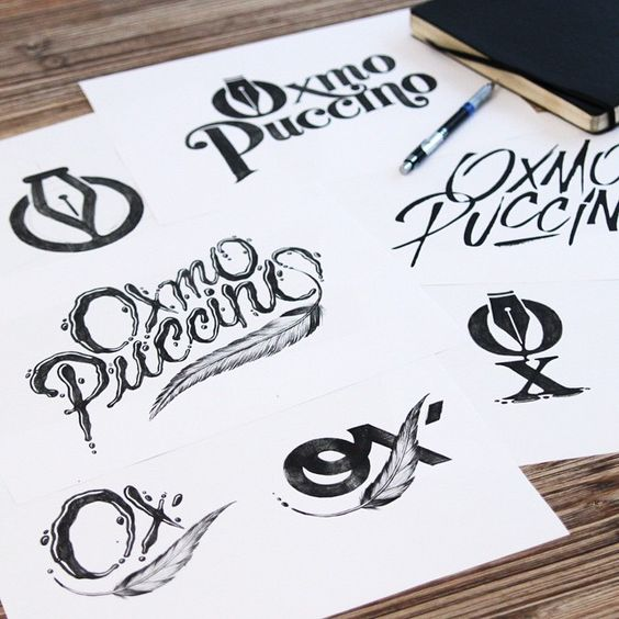 Looking for the perfect shape for the master @oxmopuccino  #sketches #logo…