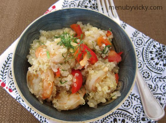 Sweet Ginger Shrimp with Dill and Quinoa - may try with tofu instead of shrimp