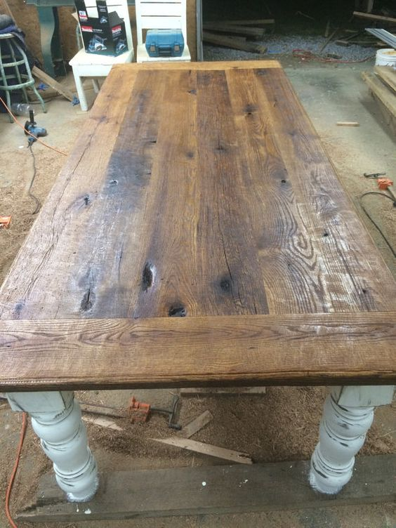 Weathered Pine Dining Bench