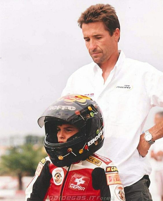 Marc Marquez and his dad: