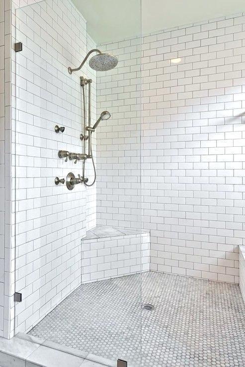 More Click Small Shower Seat Bathroom Tile Shower Bench Ideas Best Corner Shower Seat Ide Corner Shower Seat White Subway Tile Shower Corner Shower Bench