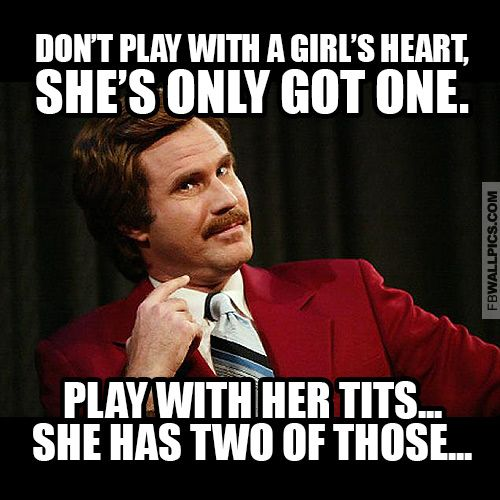 Funny Ron Burgundy Meme : Ron burgundy playing with a girl meme facebook wall pic