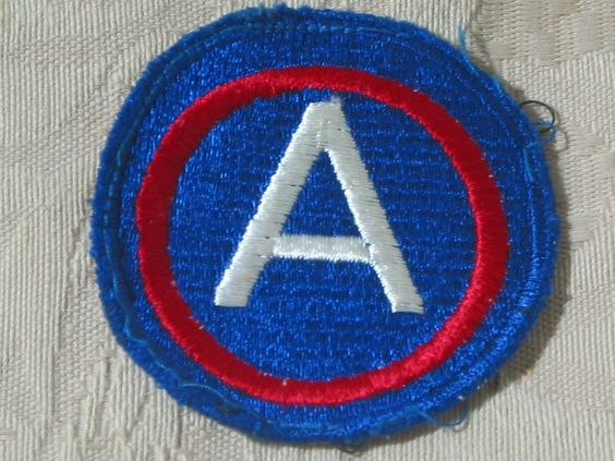 MILITARY SHOULDER PATCH 3rd (Third) United States Army Central No Vietnam Combat  Junk_633  http://ajunkeeshoppe.blogspot.com/