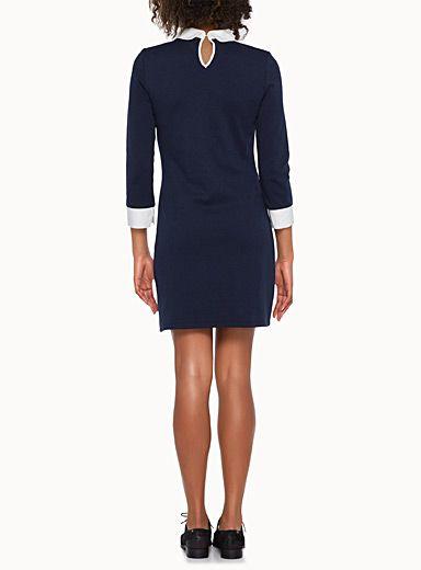 La robe pull effet chemise | Simons