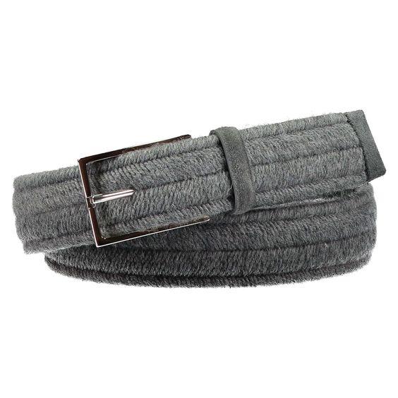 ORCIANI Gewebter Stretch-Baumwollgürtel ► Der Gürtel von ORCIANI ist aus einem elastischen, geflochtenen Baumwollmaterial hergestellt. Sein sportlicher Look wird von einer eckigen Schließe und Veloursleder-Details stilvoll ergänzt.