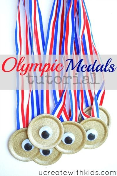 Mason jar lids and I LOVE the Googly Eyes to go with London's theme this year!  Perfect for Beer Olympics Party 2012!