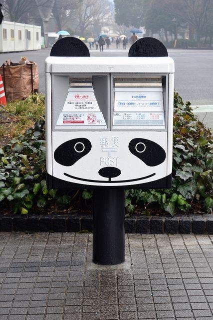 japanlove:  Panda Mailbox by jpellgen on Flickr.