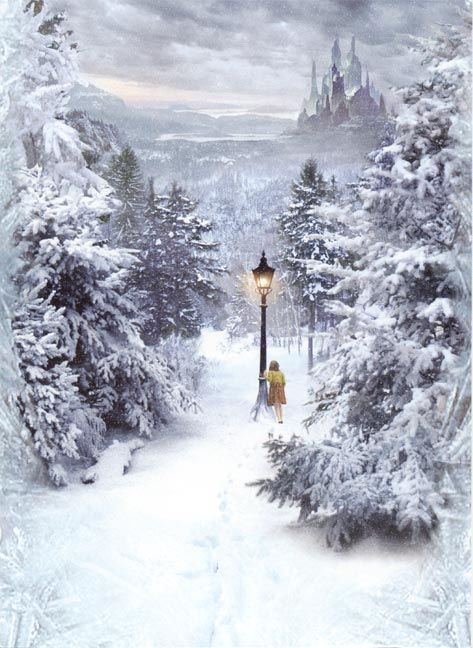 Narnia Painting - The Lion, the Witch and the Wardrobe - Lucy and the Lamp-post