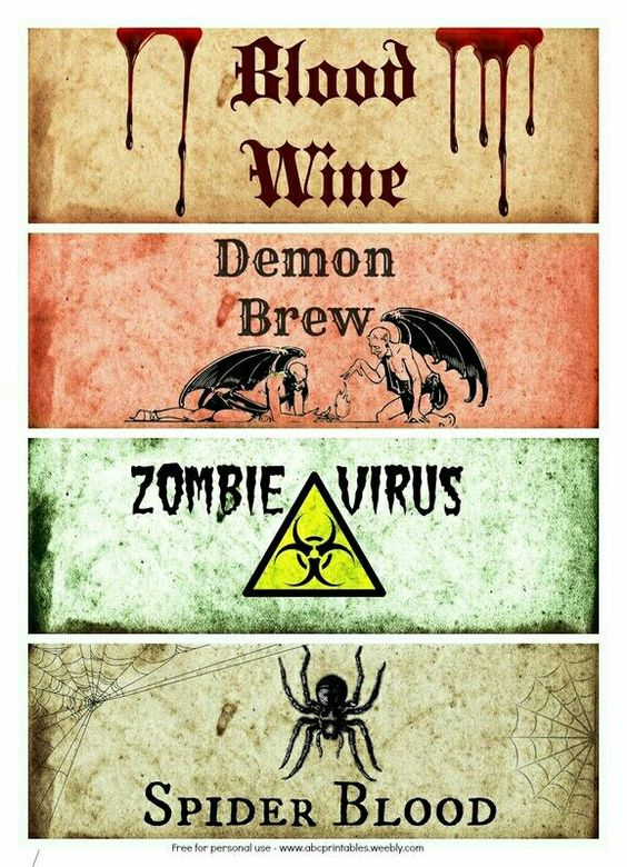 Family Strong FREE Halloween Bottle Labels! Zombie Walking Dead - free wine bottle label templates