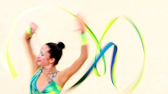 Neta Rivkin of Isreal competes during the Individual All-Around Rhythmic Gymnastics final on Day 15