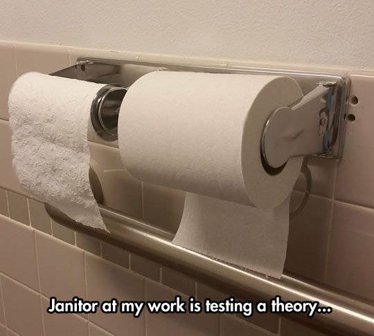 Janitor Experiment With toilet paper | Lmbo | Pinterest ...