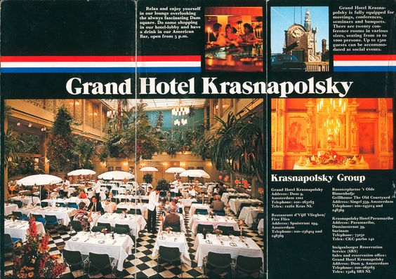 The Grand Hotel Krasnapolsky,Amsterdam. Perhaps the most famous hotel in Holland. During the Second World World it remained open despite the Netherlands being occupied by the Nazi's and infact sheltered and hid many people.  I worked at the hotel 1978-80.  #krasnapolsky #holland #chefkevinashton #wintergarden #restaurant
