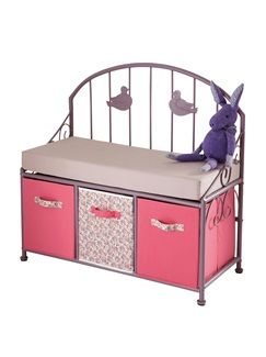 banc de lecture fille paradise bird vertbaudet enfant chambre b b pinterest in quarto. Black Bedroom Furniture Sets. Home Design Ideas