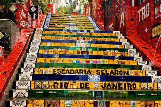 Escadaria Selarón (Selarón stairs) in Rio de Janeiro