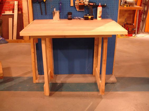 How to Make a Fold-Down Workbench : How-To : DIY Network