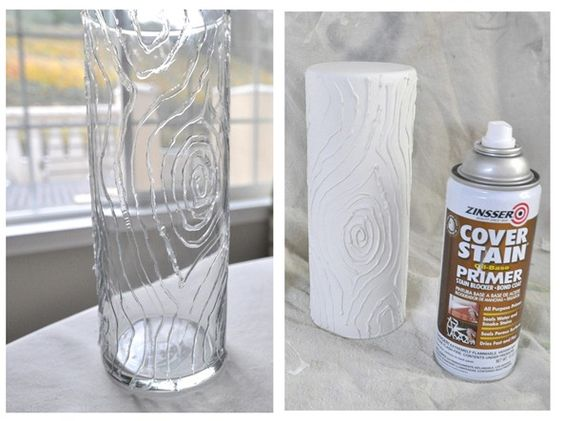 diy faux bois vases glasses glass cylinder vases and. Black Bedroom Furniture Sets. Home Design Ideas