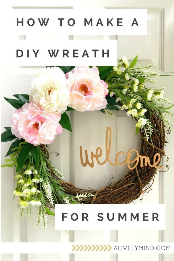 Diy Summer Wreath Summer Wreath Diy Door Wreaths Diy Diy Wreath