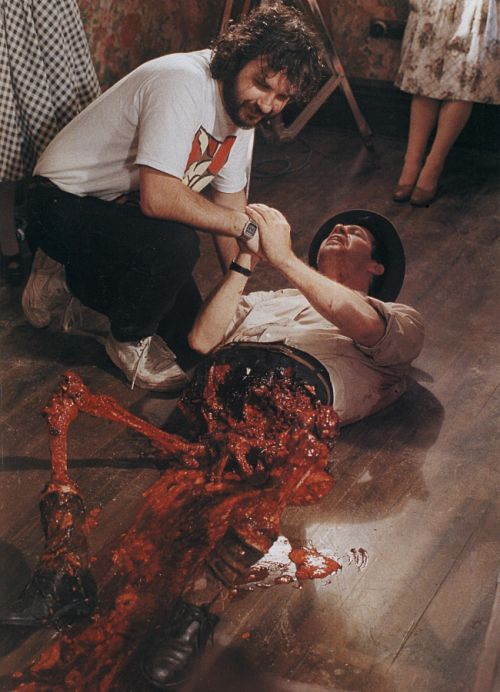 Peter Jackson on the set of Dead Alive