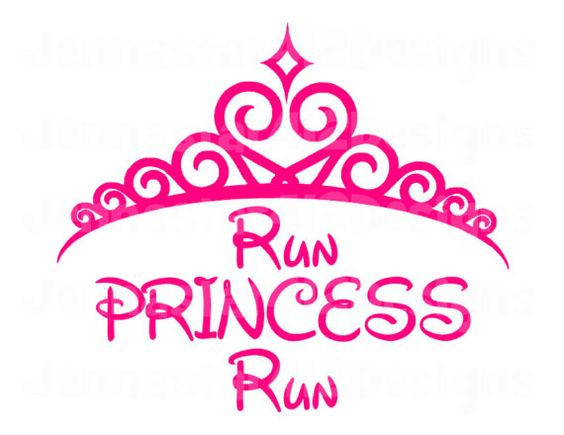 Disney Run Inspired Run Princess Run Iron On Heat Transfer Vinyl on Etsy, $6.99