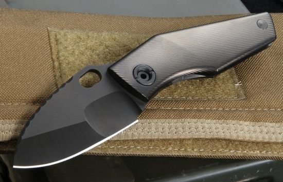 Mick Strider Custom DLC SJ75 Nightmare Grind Tactical Folding Knife