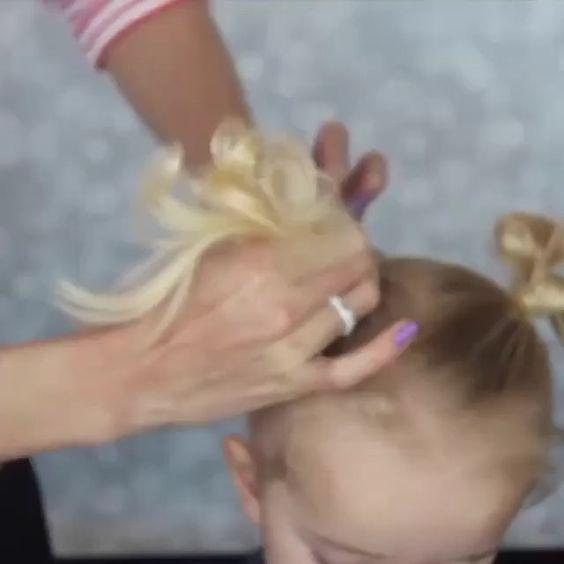 Cute pigtails bows  @kyleeskorner #hudabeauty