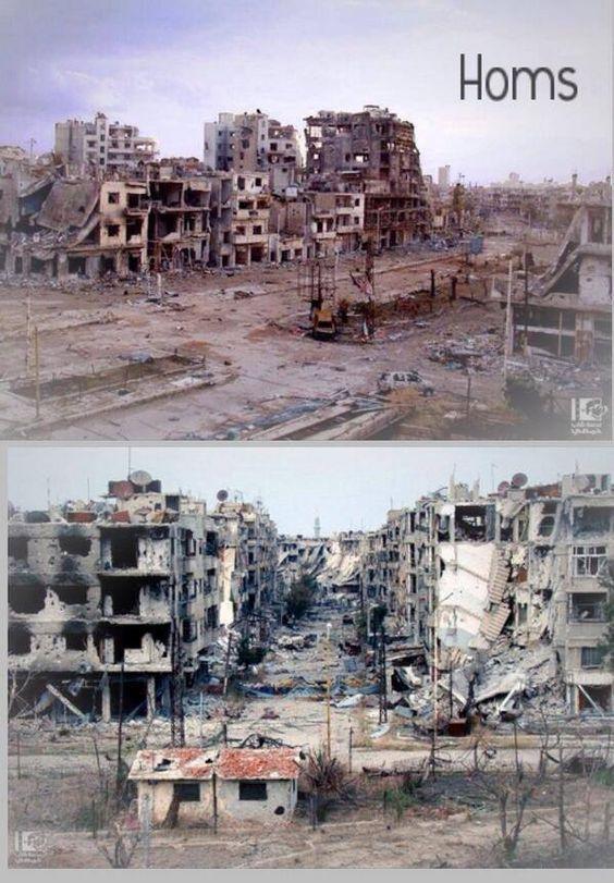 هذه المدينة ليست في المانيا في عهد هتلر انها مدينة حمص في عهد الأسد سوريا يا مدينة فنيت كالجسد Photo Paris Skyline Syria