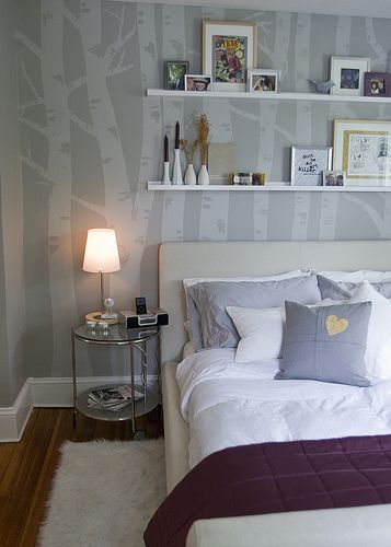 How to birch tree mural so beautiful good for a for Beautiful birch tree wall mural