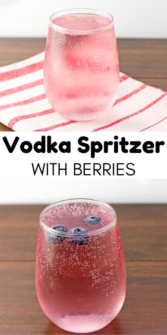 Vodka Spritzer With Berries