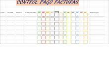 Plantilla Excel para el control del pago de las facturas
