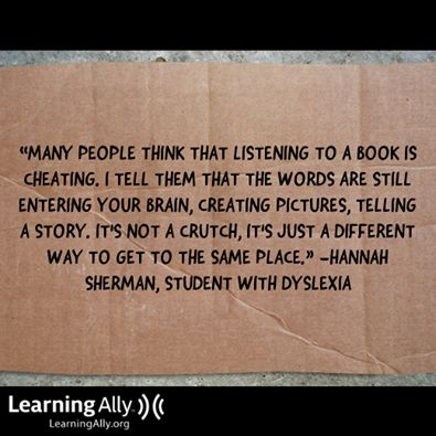 A great way to explain why listening to audiobooks is a valid method of learning.