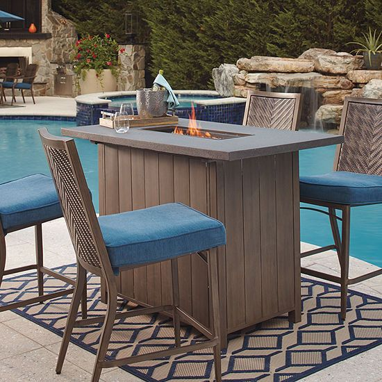 Outdoor By Ashley Fiji Bar Table Jcpenney Outdoor Furniture Sets Outdoor Furniture Outdoor Bar Table