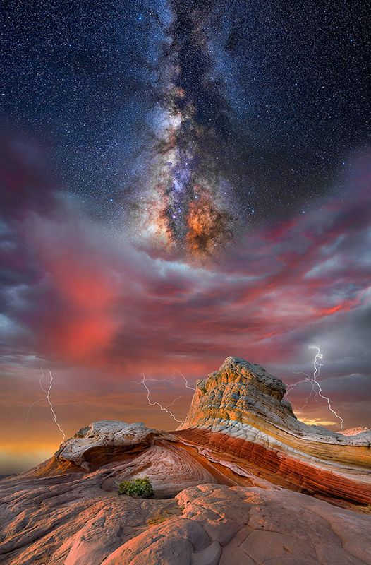 Galaxy And Stars Above The Mountain With Lightning Image Free Stock Photo Public Domain Photo Cc0 Images Nature Travel Outdoor Photography Tips Photo