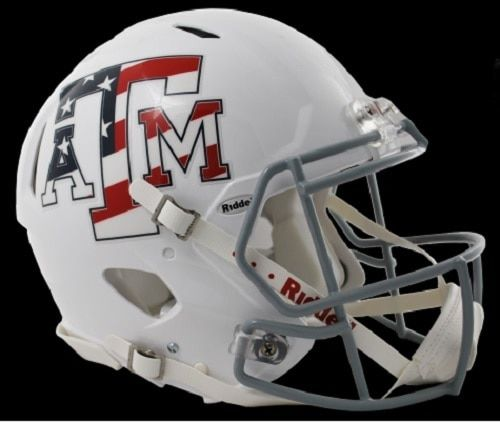 Texas A M Aggies Helmet Riddell Authentic Full Size Speed Style Stars And Stripes Special Order Football Helmets Aggie Football Football