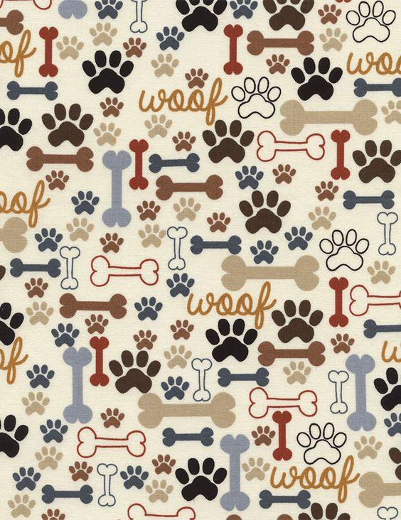 Paw And Bone Fabric Dollhouse Pets Pinterest Fondos