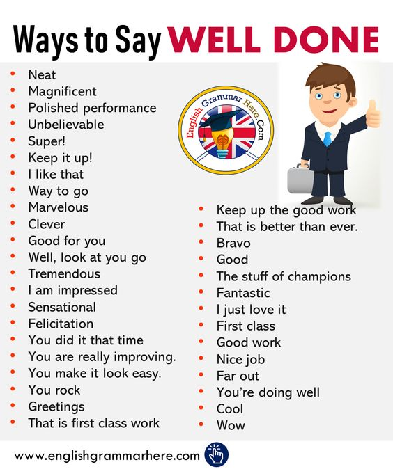 English Different Ways to Say WELL DONE - English Grammar Here