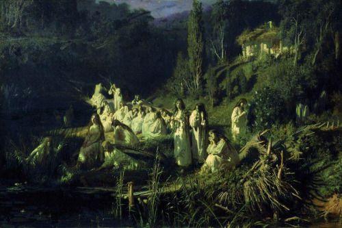 """Ivan Kramskoi """"Rusalki"""" (mermaids)"""