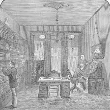 interior.  Victorian drawing.