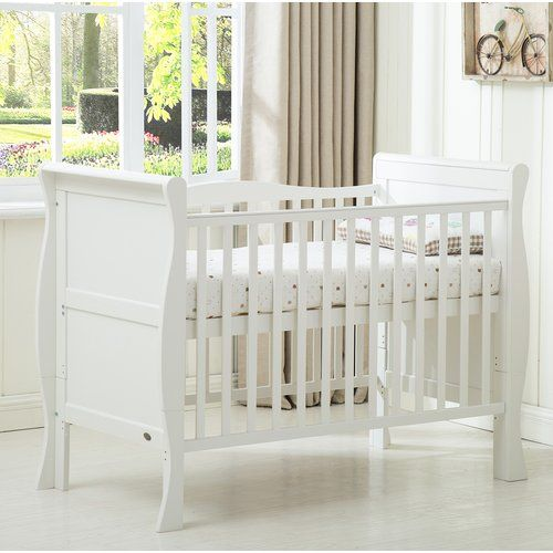 Solid Wood Baby One Cot Deluxe Cot Mattress//3 Position Base Height //New Born