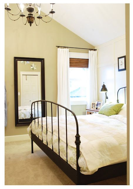 shades + white curtains Mini Manor Blog