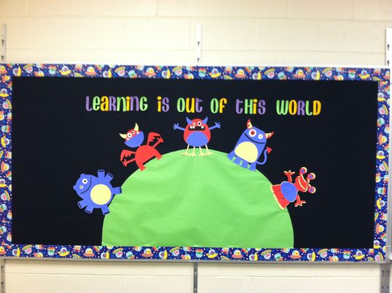 Learning is Out of this World bulletin board