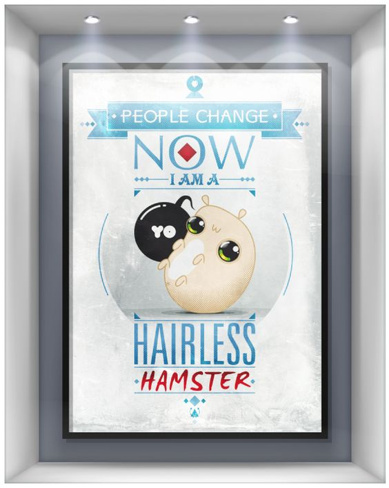 Hairless Hamster by OMASH ONE, via Behance